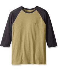 Volcom Solid Heather 3/4 Sleeve Raglan Shirt - Green