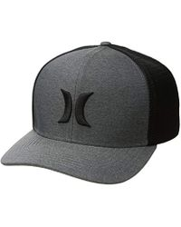 b08bbfe7ec9c9 Hurley - One And Textures Snapback Curved Bill Trucker Hat - Lyst