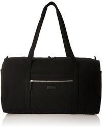 Vera Bradley Microfiber Large Travel Duffle Bag - Black