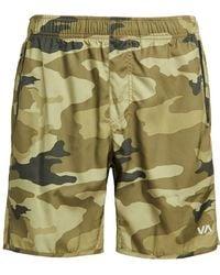 "RVCA Sport Yogger Iv 17"" Short Gray Large - Green"