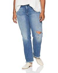 c3129414e2f Lucky Brand - Plus Size Mid Rise Lolita Straight Jean In Assateague Island  - Lyst