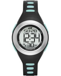 Skechers Tennyson Quartz Metal And Silicone Sports Digital Watch - Black