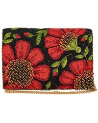 Mary Frances Wallflower Beaded Crossbody Clutch Handbag - Multicolor