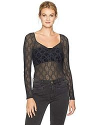 Only Hearts - Stretch Lace Sweatheart Bodysuit - Lyst