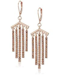 Kenneth Cole - Blush Stone Stick Fringe Drop Earrings, One Size - Lyst
