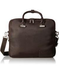Calvin Klein Dylan Laptop Case - Brown