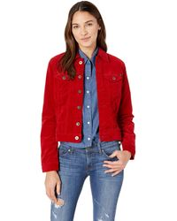 AG Jeans Robyn Fitted Stretch Denim Jacket - Red