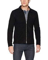 J.Lindeberg Suede Zip Overshirt - Black