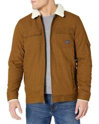 O'neill Sportswear Mens Sherpa Lined Heavy Weight Ranger Fleece Jacket - Brown