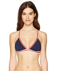 Nautica - Colorblock Cross Back Bikini Top - Lyst