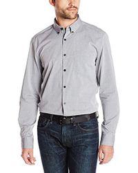 Kenneth Cole - Long Sleeve Dobby Shirt - Lyst