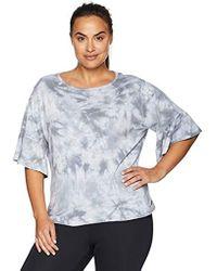 Calvin Klein - Plus Size Tie Dye Ruffle Slv. Top - Lyst