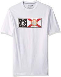 Volcom Florida Pride Short Sleeve Basic Tee - White