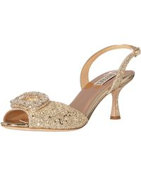 Badgley Mischka Womens Gaela Heeled Sandal - Metallic