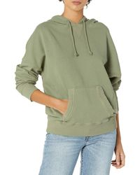 Lucky Brand Long Sleeve Side Seam Relaxed Hoodie Sweatshirt - Green