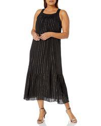 RACHEL Rachel Roy Plus Size Leo Flounce Maxi Dress - Black