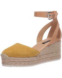 Nine West Espadrille Wedge Sandal - Yellow