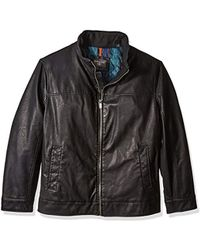 Dockers - Big Lamb Touch Faux Leather Stand Collar Jacket - Lyst