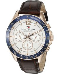 Tommy Hilfiger - 1791118 Sophisticated Sport Watch With Brown Leather Band - Lyst