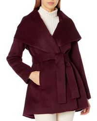 Trina Turk Amelia Wrap Coat - Purple