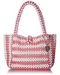 Betsey Johnson Just Bead It Bag - Pink