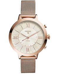 Fossil - Q Jacqueline Rose Gold-tone Hybrid Smartwatch - Lyst