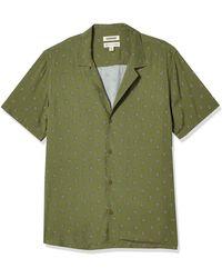 Goodthreads Standard-fit Short-sleeve Camp Collar Hawaiian - Green