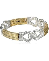 "Napier - ""gold Rush"" Two-tone Link Stretch Bracelet - Lyst"