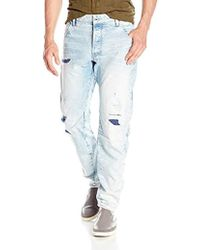 Raw Tapered Blue Jeans Uniform Men The Free G Of Star In Lyst For 0fWEw8AqWv