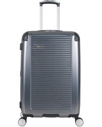 Ben Sherman Norwich Collection Lightweight Hardside Pet Expandable 8-wheel Spinner Luggage - Blue