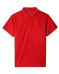 Nautica Uniform Short Sleeve Performance Polo - Red