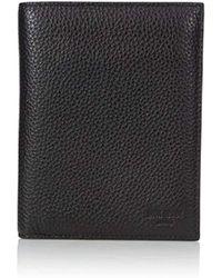 Jack Spade Pebble Leather Travel Wallet - Black