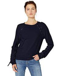 Jessica Simpson Kiana Lace Up Sweatshirt - Blue