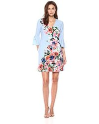 Donna Morgan - Placement Print Crepe Dress - Lyst