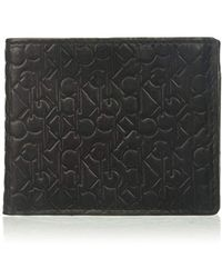 Calvin Klein - Logo Embossed Billfold W/coin Pocket - Lyst
