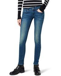 G-Star RAW Star Midge Cody Low Skinny Jeans - Blue - 23w X