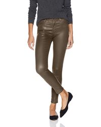 AG Jeans Farrah Leatherette High-rise Skinny Fit Ankle Pant - Multicolor