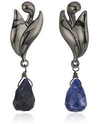 Badgley Mischka - Genuine Drop Swirl Drop Earrings - Lyst