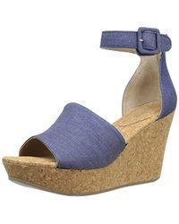 Kenneth Cole Reaction Sole Quest Wedge Sandal, Blue, 6.5 M Us
