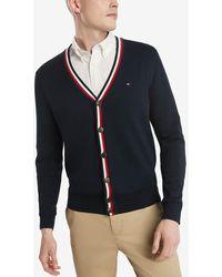 Tommy Hilfiger Cotton Cardigan Sweater - Blue
