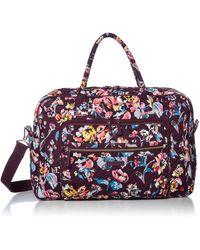 Vera Bradley Signature Cotton Weekender Travel Bag - Red