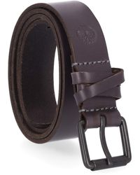 Timberland Casual Leather Belt For Jeans - Blue