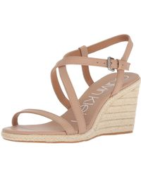 Calvin Klein Bellemine Espadrille Wedge Sandal - Natural