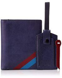 Fossil - Travel Kit Set Passport Case Luggage Tags Zipper Pulls Accessory - Lyst