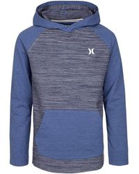 Hurley Men/'s Textured With Stripe Pullover Hoodie NWT Large Medium