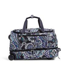 Vera Bradley Lighten Up Foldable Rolling Duffle Luggage - Blue