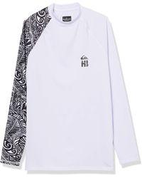 Quiksilver Ma Kai Ls Long Sleeve Rashguard Surf Shirt - White