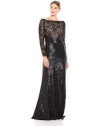 Tadashi Shoji - Aquila Lace Sequin Gown - Plus Size - Lyst