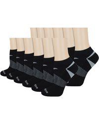 Saucony Selective Cushion Performance No Show Athletic Sport Socks - Black