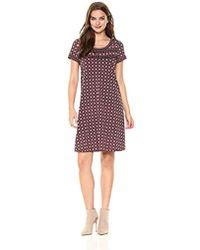 Lark & Ro - Short Sleeve Scoop Neck T-shirt Dress - Lyst